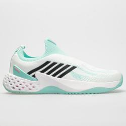 K-Swiss Aero Knit Women's Tennis Shoes White/Aruba Blue/Soft Neon Pink