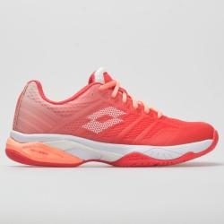 Lotto Mirage 300 II Speed Women's Tennis Shoes Red Fluo/All White/Vivid Rose