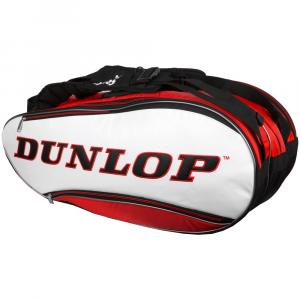 Dunlop Srixon 12 Racquet Bag Red//White/Black Tennis Bags
