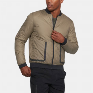 Under Armour Sportstyle ColdGear Reactor Bomber Men's Athletic Apparel Canvas/Bay Brown