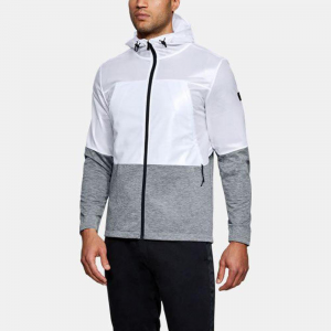 Under Armour Unstoppable Swacket Hoodie Men's Athletic Apparel White/Steel Light Heather