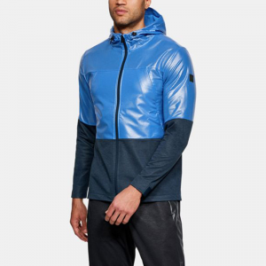 Under Armour Unstoppable Swacket Hoodie Men's Athletic Apparel Mediterranean/Academy Light Heather