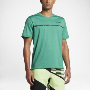 Nike Dry Challenger Top Men's Tennis Apparel Stadium Green/Black