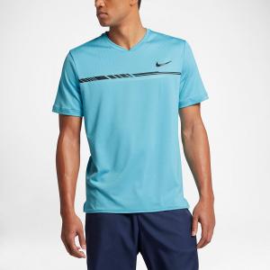 Nike Dry Challenger Top Men's Tennis Apparel Vivid Sky/Black