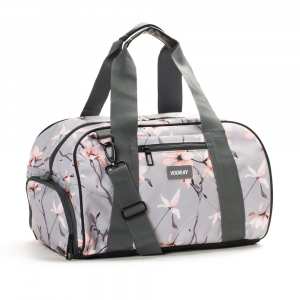 Vooray Roadie Duffel 24L Sport Bags Gray Cherry Blossom