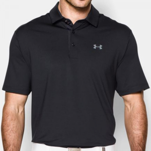 Under Armour Playoff Polo Men's Athletic Apparel Black/Graphite/Graphite