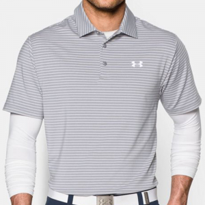 Under Armour Playoff Polo Men's Athletic Apparel True Grey Heather/White/White