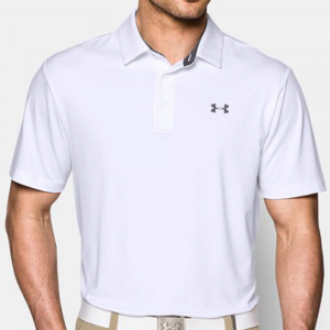 Under Armour Playoff Polo Men's Athletic Apparel White/Steel/Steel