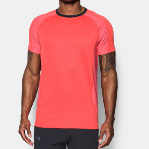 Under Armour Reactor Run Short Sleeve Tee Men's Running Apparel Marathon Red/Black