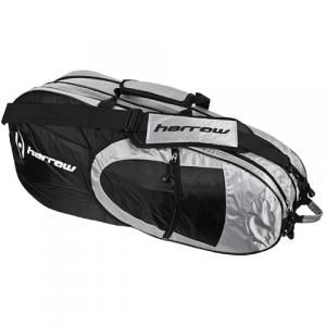 Harrow 6 Racquet Bag Black Squash Bags