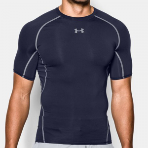 Under Armour ColdGear Armour Compression Mock Men's Athletic Apparel Midnight Navy/Steel