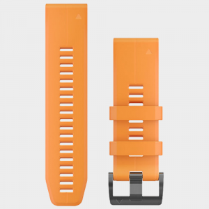 Garmin fenix 5x 26mm QuickFit Silicone Band HRM, GPS, Sport Watch Accessories Spark Orange