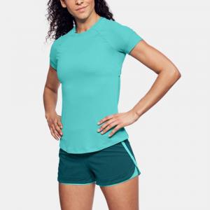 Under Armour Speed To Burn Short Sleeve Top Women's Running Apparel Tropical Tide/Desert Sky