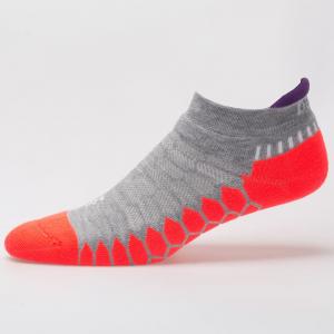 Balega Silver No Show Socks Spring 2018 Socks Grey/Neon Coral