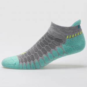 Balega Silver No Show Socks Socks Mid Grey/Aqua