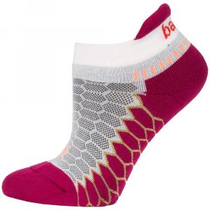 Balega Silver No Show Socks Socks White/Wildberry