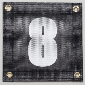 Tennis Court Numbers - Mesh Court Equipment Number Eight (8)