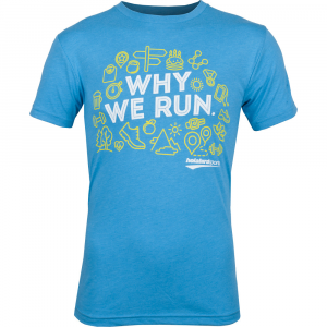 """Holabird Sports """"Why We Run"""" T-Shirt Running Apparel Vintage Turquoise"""