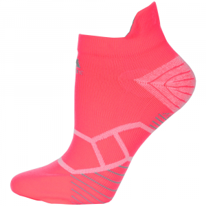 adidas Energy Running Tabbed No Show Socks Flash Red/Light Onix