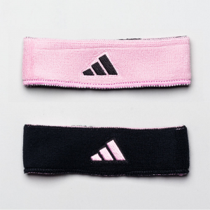 adidas Interval Reversible Wristband Sweat Bands Black/Pink and Pink/Black