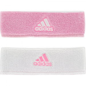adidas Interval Reversible Wristband Sweat Bands Pink/White and White/Pink