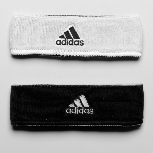 adidas Interval Reversible Wristband Sweat Bands White/Black and Black/White