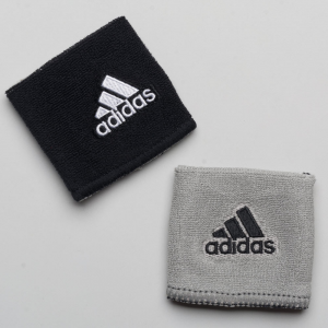adidas Interval Reversible Wristband Sweat Bands Black/White and Gray/Black