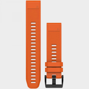 Garmin fenix 5 22mm QuickFit Silicone Band HRM, GPS, Sport Watch Accessories Solar Flare Orange