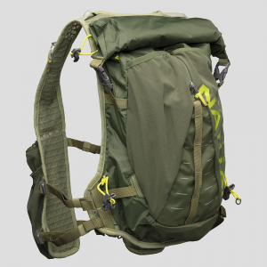 Nathan TrailMix 12L Vest Hydration Belts & Water Bottles Bronze Green/Mosstone/Nuclear Yellow