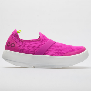 Oofos OOmg Low Women's Walking Shoes Pink/White