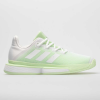 adidas SoleMatch Bounce Women's Tennis Shoes White/White/Glow Green