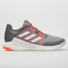adidas CrazyFlight Men's Indoor, Squash, Racquetball Shoes Gray/White/Signal Coral