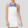 Fila Colorful Play Halter Tank Women's Tennis Apparel White/Green Ash/Amparo Blue