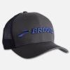 Brooks Discovery Trucker Hat Hats & Headwear Asphalt/Cobalt/Brooks
