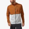 On Weather Jacket Men's Running Apparel Pecan/White