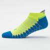 Balega Silver No Show Socks Socks Bright Turquoise/Neon Lime