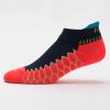 Balega Silver No Show Socks Socks Neon Coral/Ink