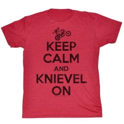 Evel Knievel - Keep Calm Tee
