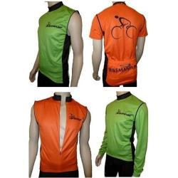 BikeMania 3 in 1 Removable Sleeves Convertible Cycling Jersey