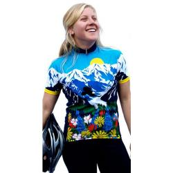 Awesome Mountains and Flowers Women's Cycling Jersey - XL