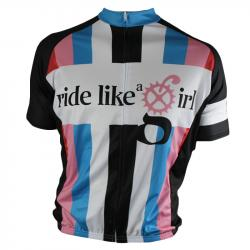 Ride Like a Girl - Biker Chic Rainbow Women's Cycling Jersey