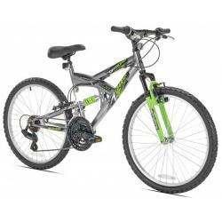 "Northwoods Z24 21 Speed Boys 24"" Dual Suspension Mountain Bike"