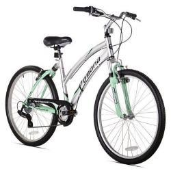 "Northwoods Pomona Women's Cruiser 26""  Bike - Silver/Green"