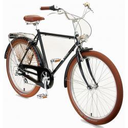 Peace Bicycles Dreamer Straight-Bar 7 Speed Dutch Bike - Black