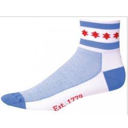 SOS Chicago Cycling Socks