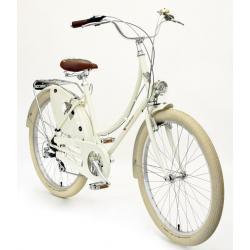 Peace Bicycles Dreamer Step-Thru 7 Speed Dutch Bike - Cream