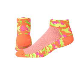 "SOS Camo 1.5"" - Neon Orange Cycling Socks"