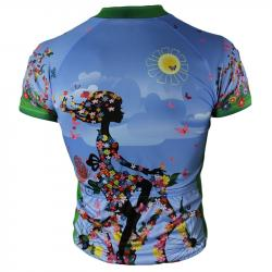 Lady On Flowers Womens Cycling Jersey