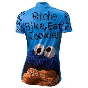 Brainstorm Gear Cookie Monster Women's Cycling Jersey - Sesame-2XL
