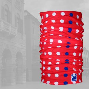 Pandana Bandana Headwear-White-Dot-Red